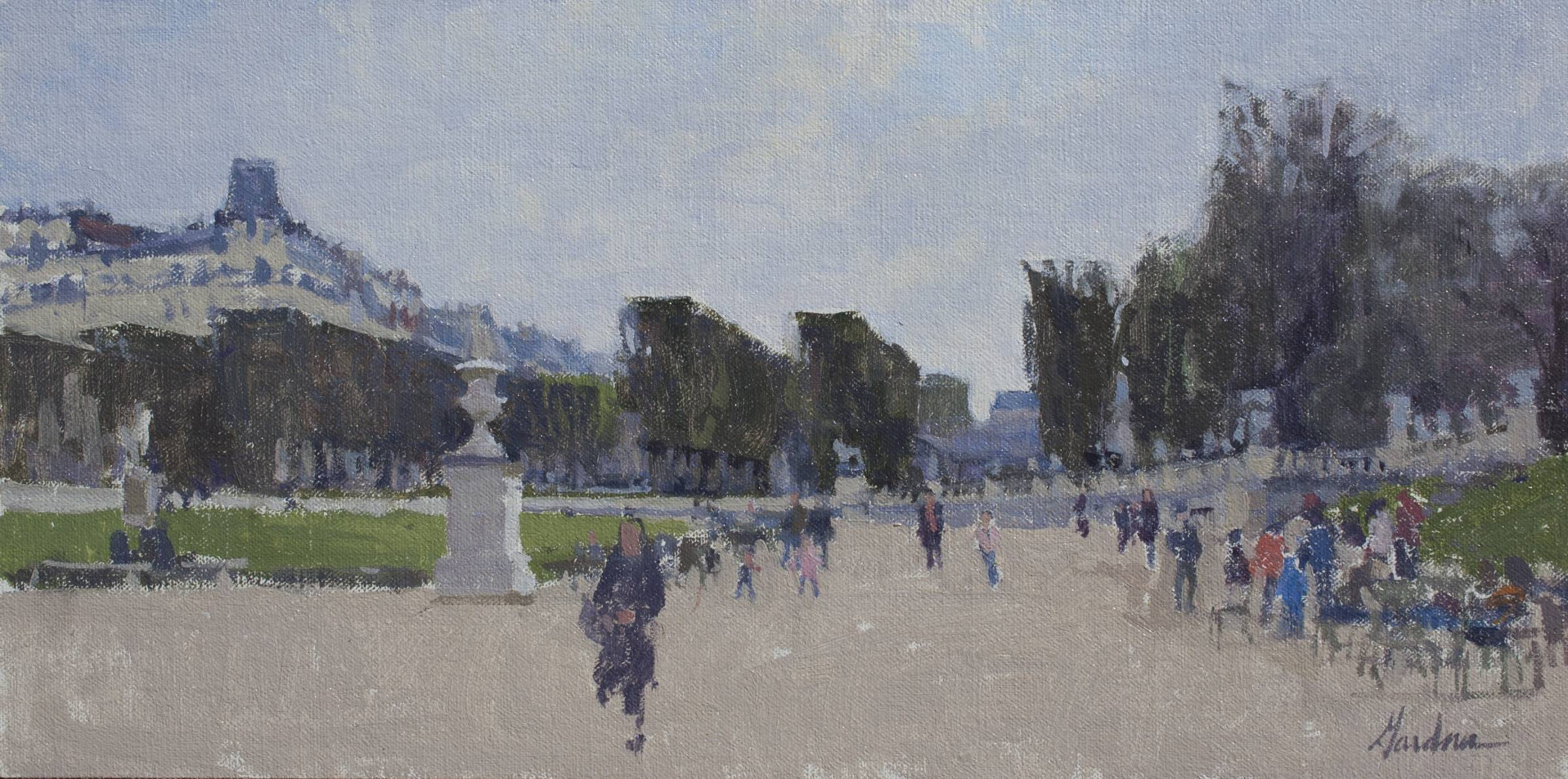 Jardin du Luxembourg painting by Frank Gardner
