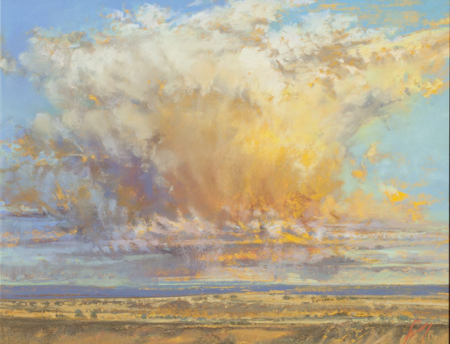 Thunderhead painting by Iva Morris